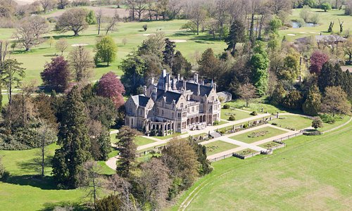 Orchardleigh House Ariel View showing Golf Course