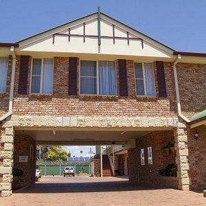 Entry to motel
