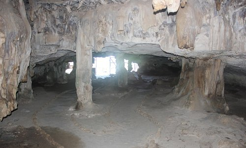 Entrance to the cave from inside