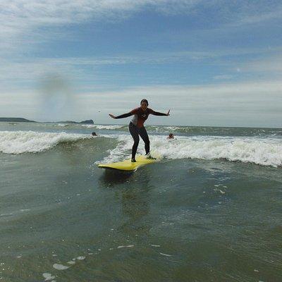 Surfing at Llangennith Beach