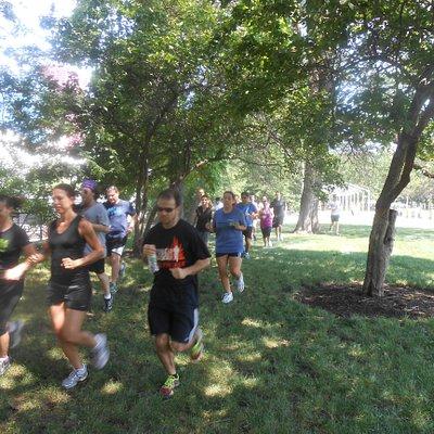 """Running in """"hidden"""" Grant Park"""