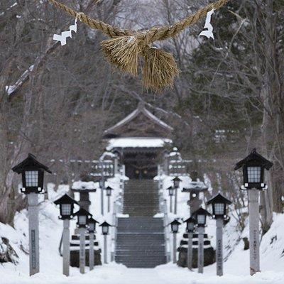 温泉神社 参道