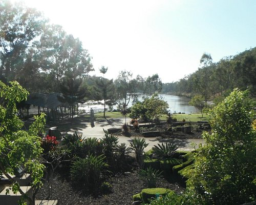 View over old wharf site from park