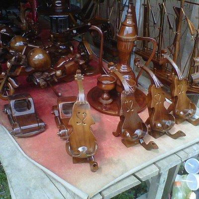 Delicate wooden handicraft