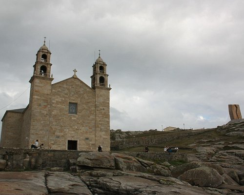 """Muxia - Antes del incendio, santuario de """"A Virxe da Barca"""""""