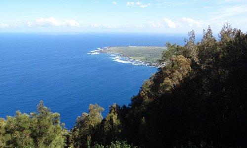 Overlook of beautiful blue ocean