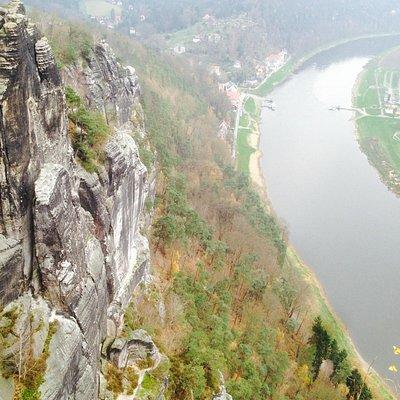 Эльба с высоты 180 м