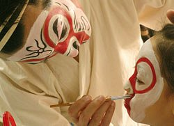 Opera face-painting