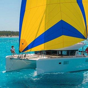 Our skippered Lagoon 39 catamaran