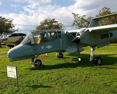OV-10 on display, one of several.