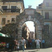 at the front of Porta Messina