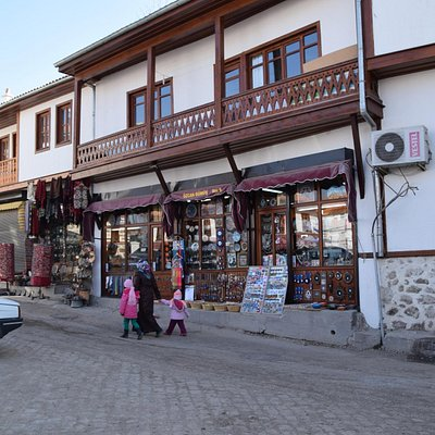 Typical restored house with shop