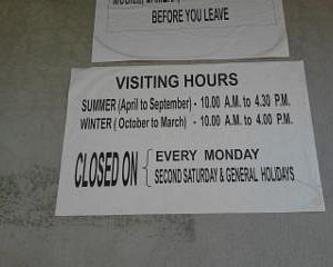 Opening timings and days