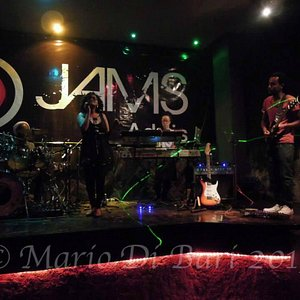 Jams' stage with the Imperial Majestic band