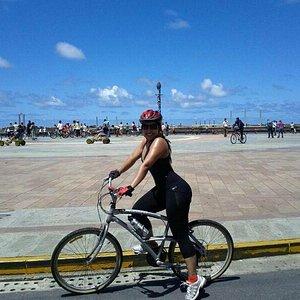 Marco Zero - ponto de encontro das rotas da ciclofaixa