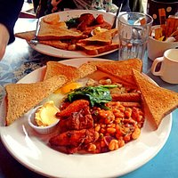 Vegan breakfast (with added egg!)
