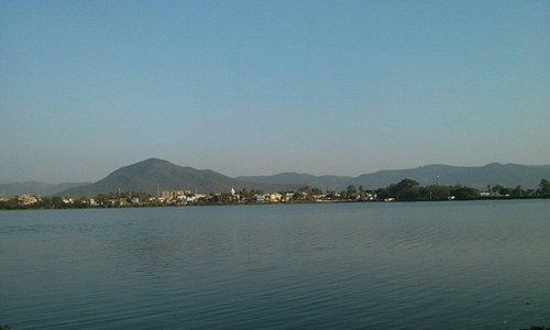 View of the city, from Odisha tourism's water sport complex.