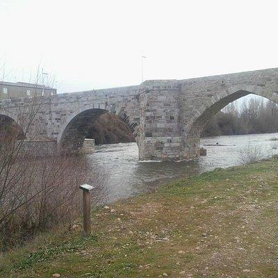 Puente aguas arriba del rio
