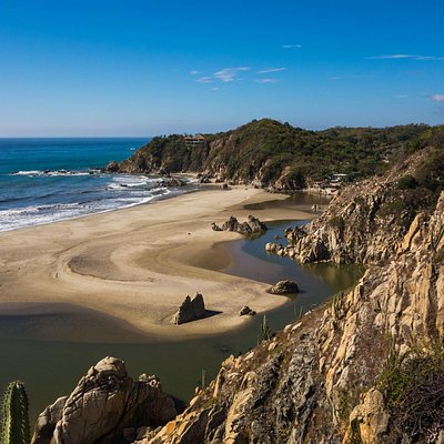 La Bocana View from Copalita Ruins Trail