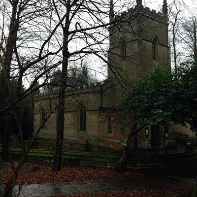 lovely church in winter or summer.