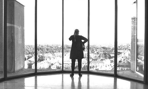 Vom Museum für sepulkralkultur hat man einen grandiosen Blick auf Kassel