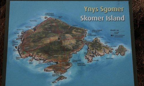 Skomer Island Visitors Map