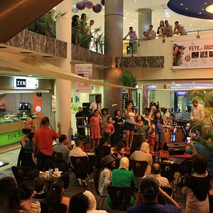 A performance in the food area