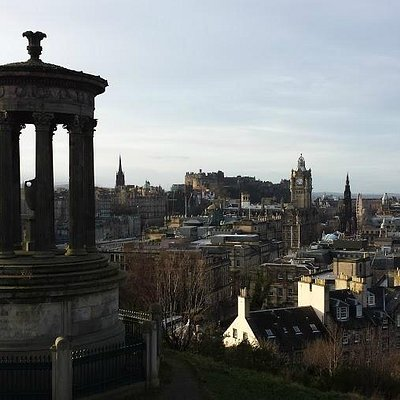 The first stop at Calton Hill!