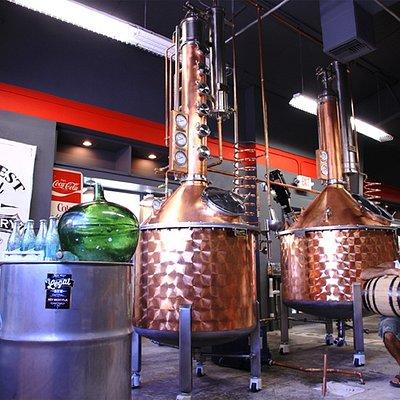 The stills , the barrel and distiller