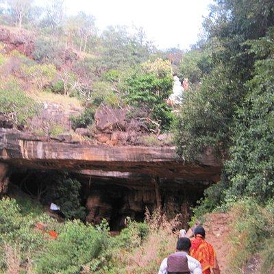 front view of caves