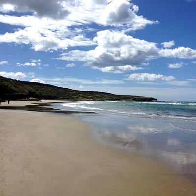 Preciosa playa tranquila. Digna de película