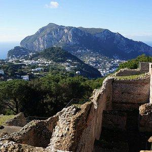 Looking across Capri