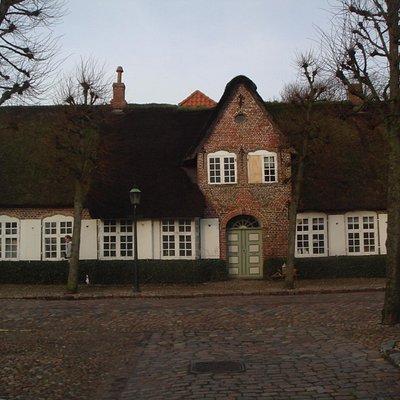 casa con el tejado de brezo tipica