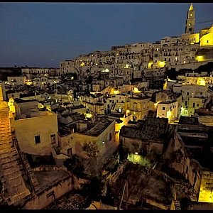 Sassi of Matera by night