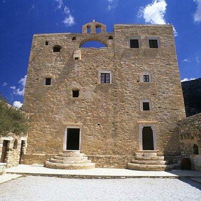 Bazeos Tower courtyard