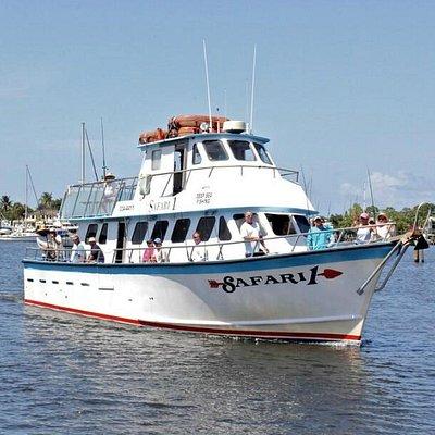 Safari I Deep Sea Fishing Boat, coming home from fishing.