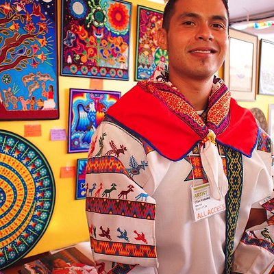 Come meet and see the amazing art of WIxarika Artist Cilau Valadez