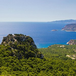 Monolithos from above