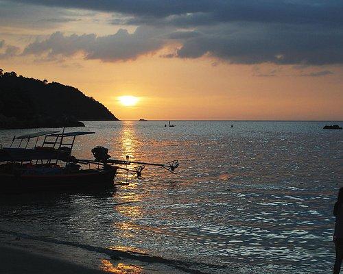 Solnedgång på Sunset Beach