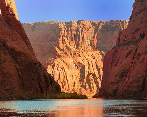 Lees Ferry is adjacent to the Grand Canyon and has spectacular views everywhere you look