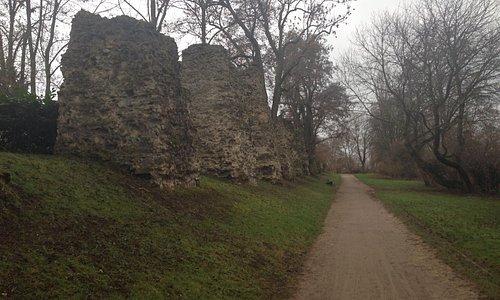 Pathway along ruins
