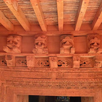 Above the entrance gate