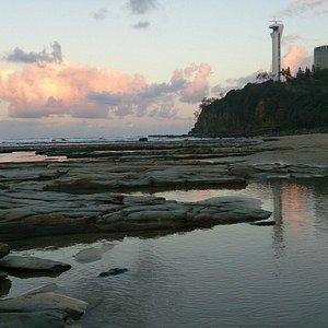 On the beach nearest to mooloolaba.