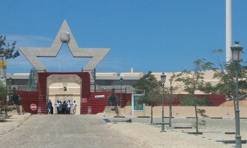 Grand entrance - in corrugated iron