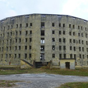 One of the prison buildings