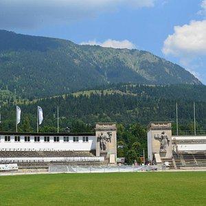 Вид стадиона изнутри