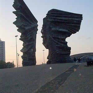 Silesian insurgents monument at dusk