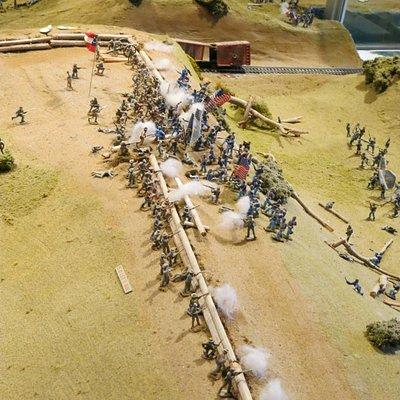 Shot of the battlefield diorama