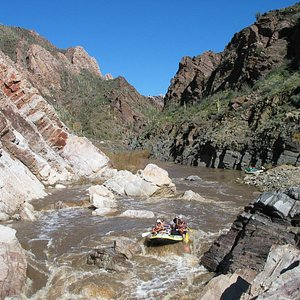 Tight and steep canyon walls form exciting whitewater rapids.