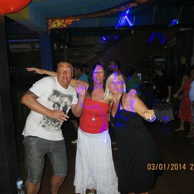 Mark, Debbs and Jayne, going for it on the dance floor...
